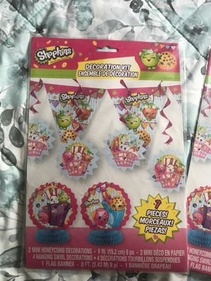 7 piece SHOPKINS Part decoration kit for Sale in Long Beach, CA