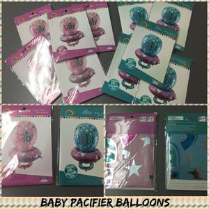 Lot of 50 Baby pacifier helium balloons great for resellers Baby showers and more!!! for Sale in North Miami Beach, FL