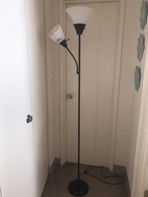Black and white torchiere lamp for Sale in Takoma Park, MD