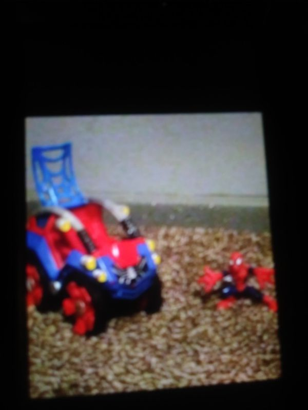 Spider-Man toy with his vehicle kids toy
