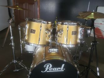 Pearl Export Series Drum Set With AA Cymbals for Sale in West Valley City,  UT
