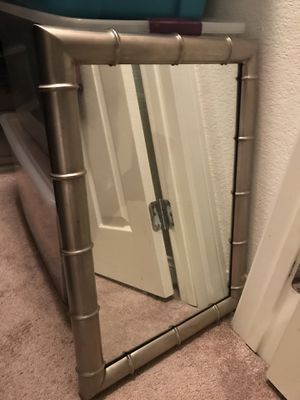 Dresser Metal mirror - vintage for Sale in San Diego, CA