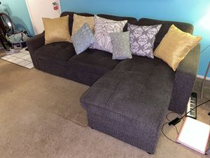 Pull out convertible couch. Futon style- L shaped style. for Sale in Tampa, FL