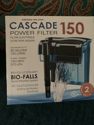 35 gallon aquarium filter for Sale in San Bernardino, CA