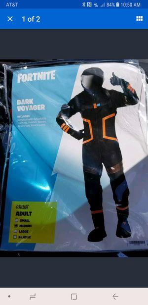men's fortnite dark Voyager size medium Halloween costume for Sale in Austin, TX
