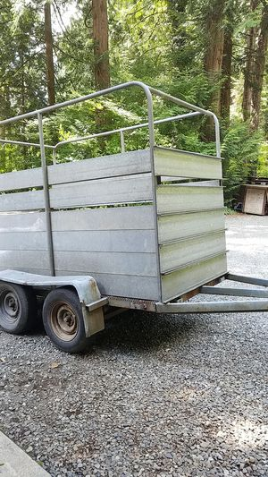 Tandem axel utility trailer with title for Sale in Maple Valley, WA