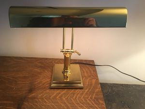 Antique Brass Desk Lamp for Sale in Seattle, WA
