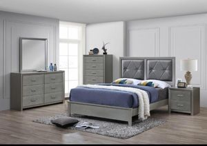 Queen Size Bed with Dresser, Mirror, and Nightstand. $40 Down No Credit Check. for Sale in Hialeah, FL