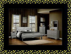 11pc grey Marley bedroom set with mattress for Sale in Washington, DC