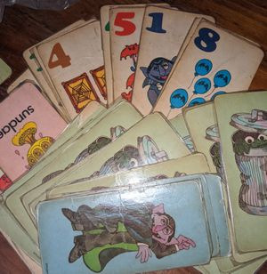 Vintage 70s SESAME STREET Counting FLASH CARDS for Sale in Baton Rouge, LA