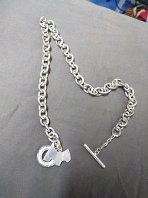 Tiffany silver chain and dog charm for Sale in Austin, TX