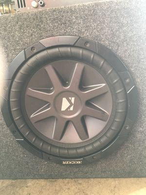 """Kicker 10"""" subwoofer with amp for Sale in Vallejo, CA"""