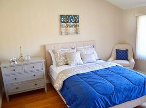 Ivory Tufted bed frame and mattress ! All sizes !! Free Delivery !!! for Sale in San Diego, CA