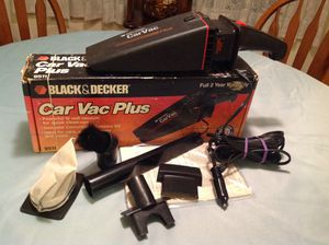 Black & Decker Car Vac Plus, used once, includes all accessories. Stored in garage and car. for Sale in Centreville, VA