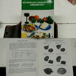 VTG 6-Piece Amberware Microwave Cooking Set Incl. Cookbook for Sale in Las Vegas, NV
