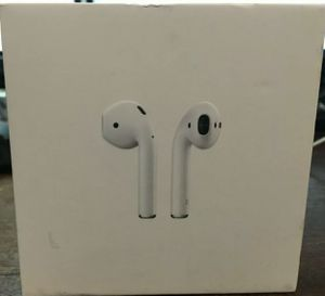 Genuine Apple AirPods White InEar Apple Wireless Bluetooth Headphones W/ Case MMEF2AM/A •• 100% Authentic •• for Sale in NO FORT MYERS, FL