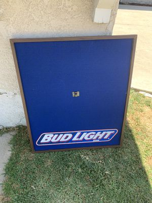 Cool Bud Light table used for darts for Sale in Whittier, CA