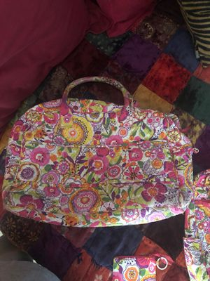 VERA BRADLEY TOTE BAG, BACKPACK AND KEY CHAIN WALLET SET for Sale in Manassas, VA
