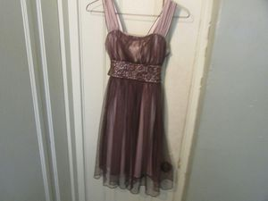 Brown and gold dress size 10 for Sale in Aurora, IL
