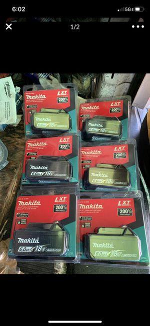 Makita battery 6.0 new 18 v LXT $70 each for Sale in Pico Rivera, CA