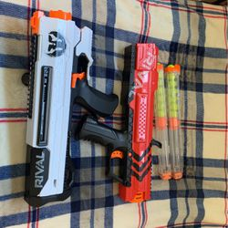 Nerf Rival White , And Red With Extended Clip And Short Clip for Sale in Stockton,  CA