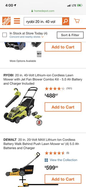 Ryobi lawn mower and blower set for Sale in Bay Point, CA