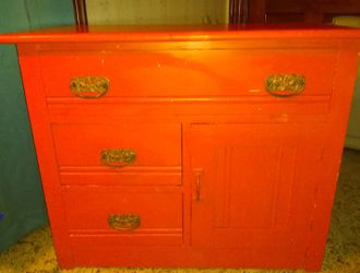 Unique orange cabinet/ dresser for Sale in Rock Island,  IL