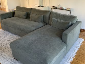 """Interior Define 109"""" Green Sectional Couch With Chaise - Charly for Sale in Los Angeles,  CA"""