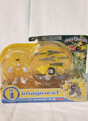 Rare Imaginext Yellow Ranger With Battle Armor for Sale in Hialeah, FL