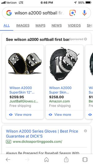Wilson A2000 softball first base glove for Sale in Castle Rock, CO