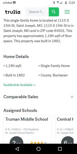 20kLivable fixer upper, no owner financing for Sale in Saint Joseph, MO