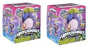 TWO ! Hatchimals CollEGGtibles Crystal Canyon Secret Scene Playset for Sale in Miami, FL