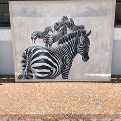 Zebra oil painting for Sale in Boca Raton,  FL
