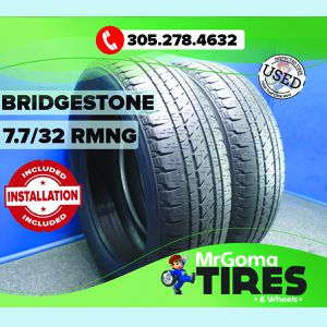 2 BRIDGESTONE DUELER HL ALENZA 255/55/20 USED TIRES 7.7/32 RMNG NO PATCH 2555520 for Sale in Miami, FL