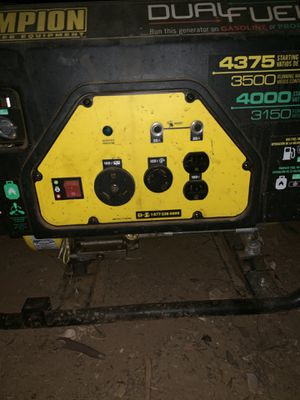 Champion dual fuel 3500 for Sale in Lakeside, CA