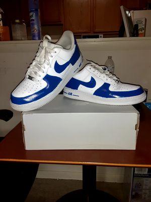 Custom AF1 in the blue color way. Size 11.5 for Sale in Laurel, MD