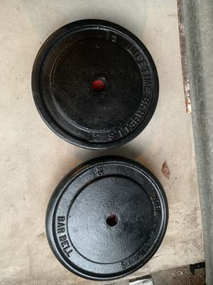 Weight barbells 3x25lbs good condition for Sale in North Lauderdale, FL