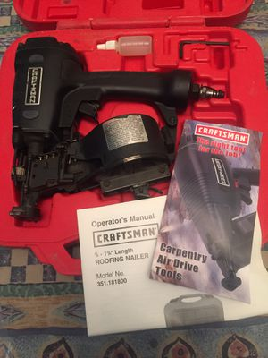 Craftsman Roofing Nail. Gun for Sale in Winchester, CA