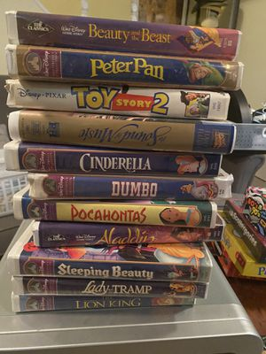 Classic Disney VHS tapes. Fully functioning. Sold separately for Sale in Bloomfield, NJ