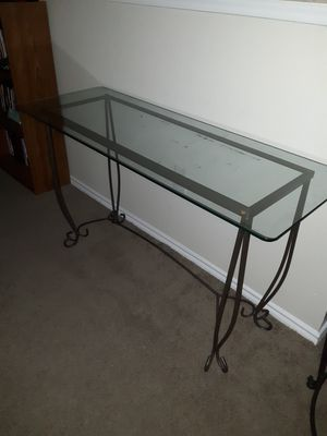 Glass and metal entry table for Sale in Denton, TX