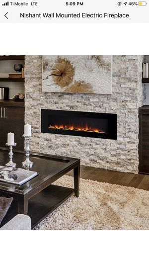 Wall mounted fire place for Sale in Staten Island, NY