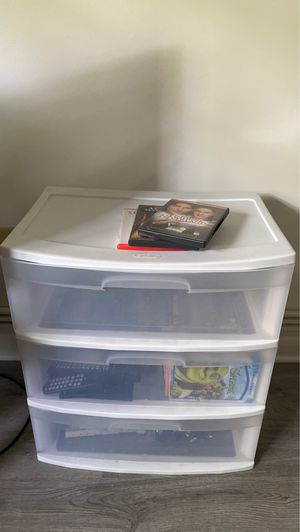 White Plastic 3-drawer Wide Organizer for Sale in Ithaca, NY