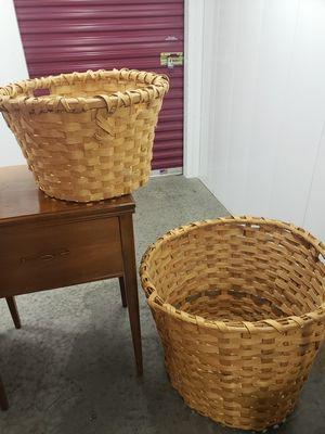 Thick wicker baskets set of 2 for Sale in La Vergne, TN