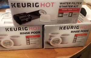 Keurig Water filter and rinse pods for Sale in Knightdale, NC