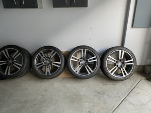 Porsche tires with rims for giveaway. Complete set for Sale in NEW CARROLLTN, MD