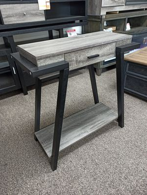 Stylish Console Table with One Drawer, Distressed Grey for Sale in Santa Fe Springs, CA