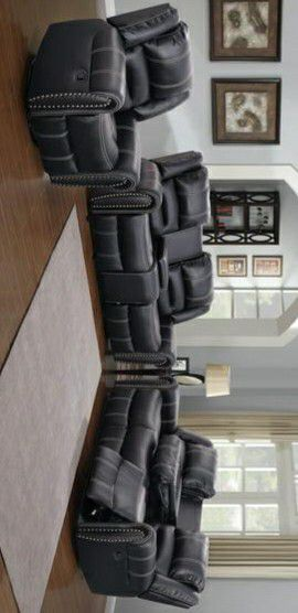 SAME DAY FREE DELİVERY Braxton Black Reclining Living Room Set $39 DOWN PAYMENT for Sale in Houston, TX