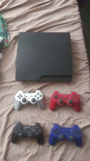 PS3 with 4controllers and 8games for Sale in Cambridge, MA