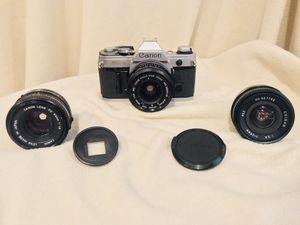 1 DAY SALE! Canon AE-1 w 3 lenses. for Sale in Philadelphia, PA