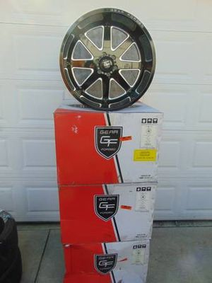 Brand New *FORGED*22X14 Gloss Black/Machined Gear Rims*6X135*-76MM OS* for Sale in Aurora, CO